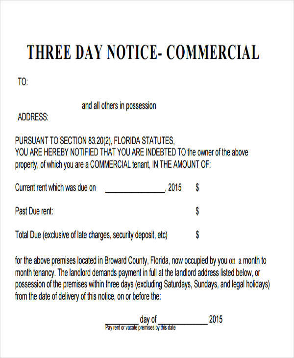 31 Eviction Notice Templates Sample Templates