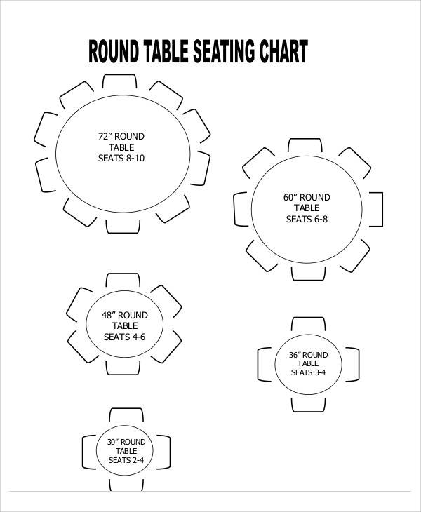 12 Seating Chart Template Free Sample Example Format Download