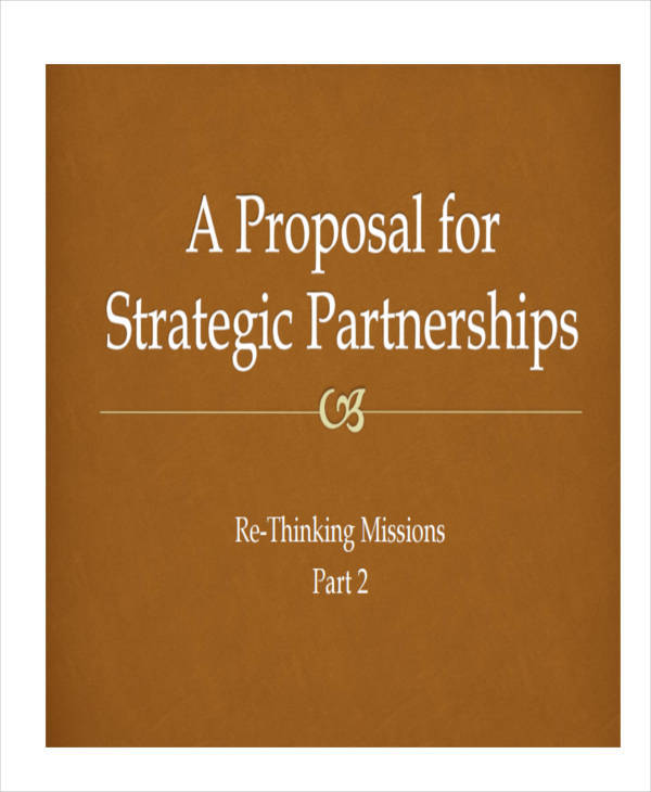 7 Partnership Proposal Templates Examples In Word PDF