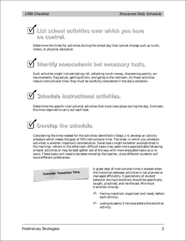 Executive Protection Checklist Pdf