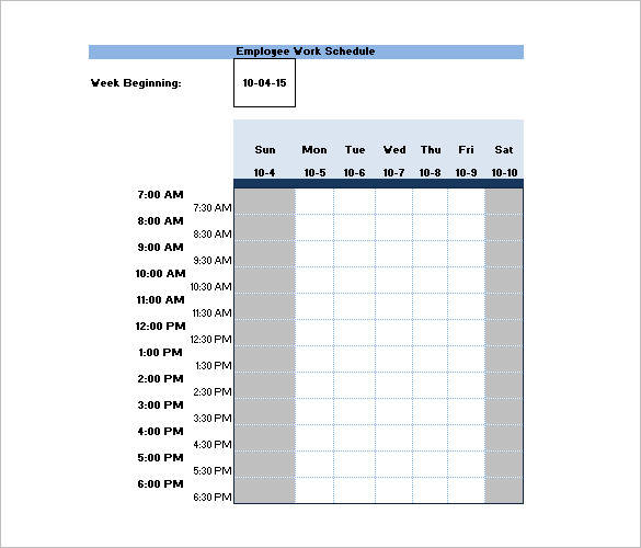 Creating a weekly work schedule for 30 employees is not as hard as it sounds. Free 13 Employee Shift Schedule Samples Templates In Pdf Ms Word Excel