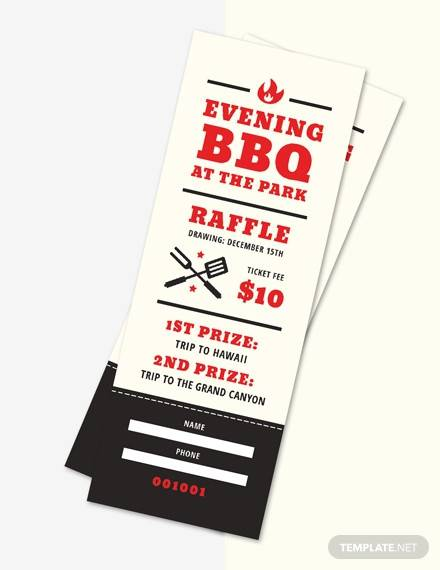 Free 32 Raffle Ticket Templates In Ai Indesign Ms