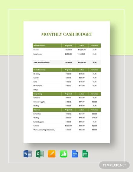 Free 23 Sample Monthly Budget Templates In Google Docs