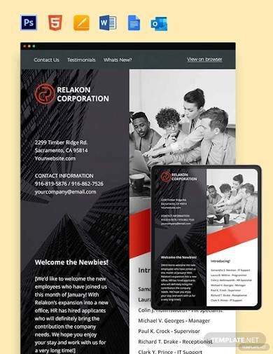A summer camp flyer provides information about summer camp in a visually attractive manner. Free 15 Sample Employee Newsletter Templates In Ms Word Pdf Html Psd Google Docs Ms Outlook