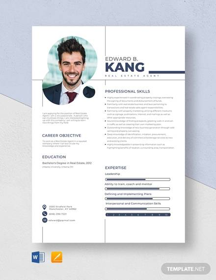 A good resume can land you that job interview, so you want to sta. Free 17 Sample Real Estate Resume Templates In Pdf Ms Word