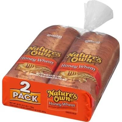 Nature39s Own Honey Wheat Bread 20 oz loaf 2 pk Sam