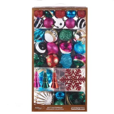 Members Mark Shatterproof Ornaments Trend Collection Mix