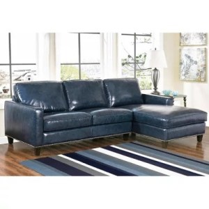 Leather Furniture   Sam s Club Member s Mark Oliver Top Grain Leather Sectional Sofa  Assorted Colors
