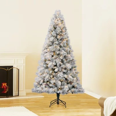 75 Ft Hallmark Artificial Pre Lit Sugared Spruce