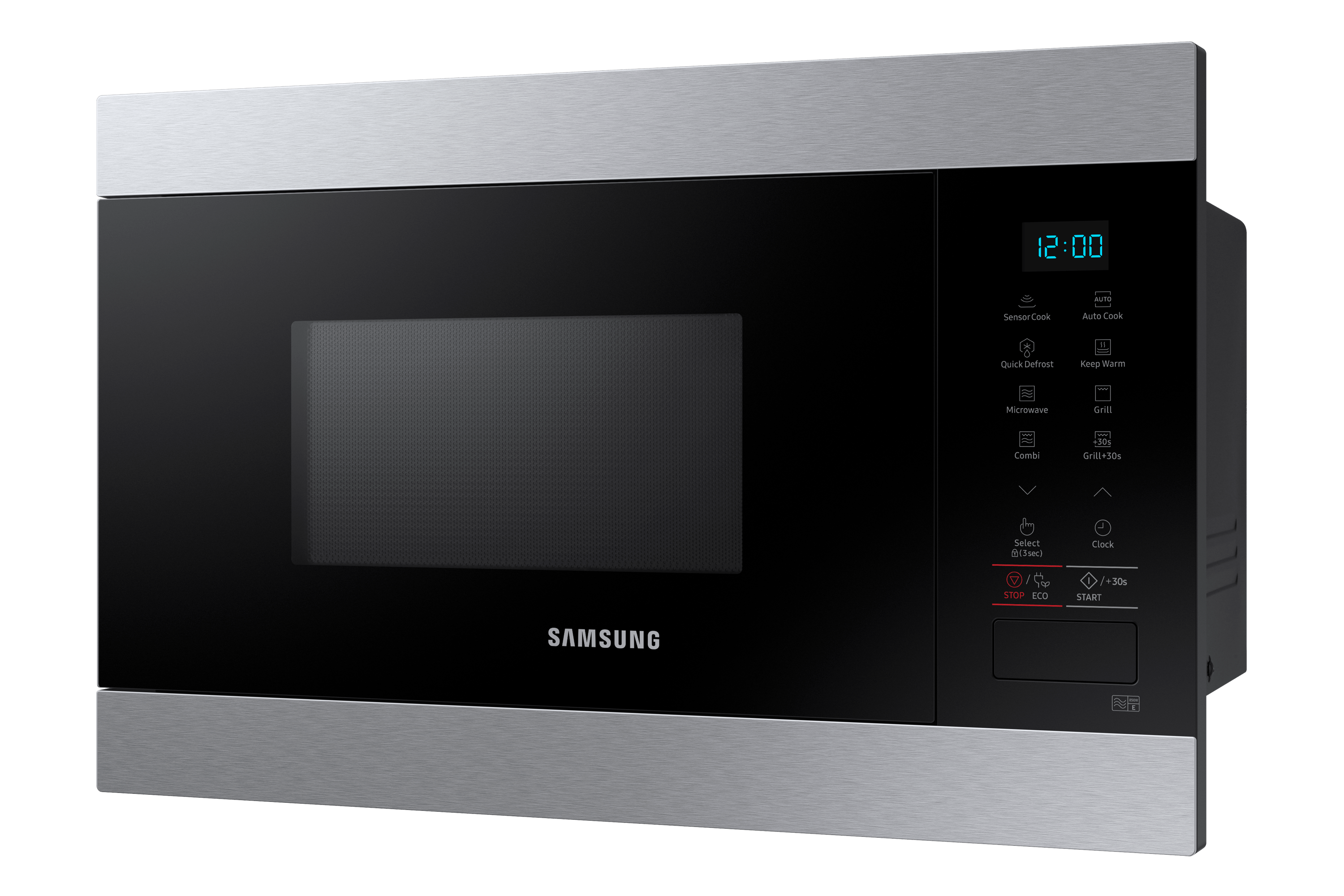 built in grill microwave with smart humidity sensor 22l