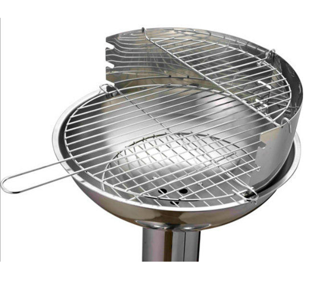 Stainless Steel Pedestal Barbecue Bbq Charcoal Grill