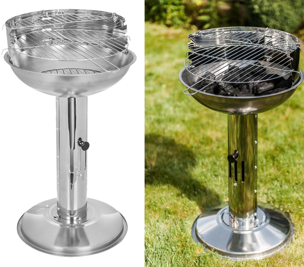 Stainless Steel Pillar Bbq Barbecue Bbq Charcoal Grill