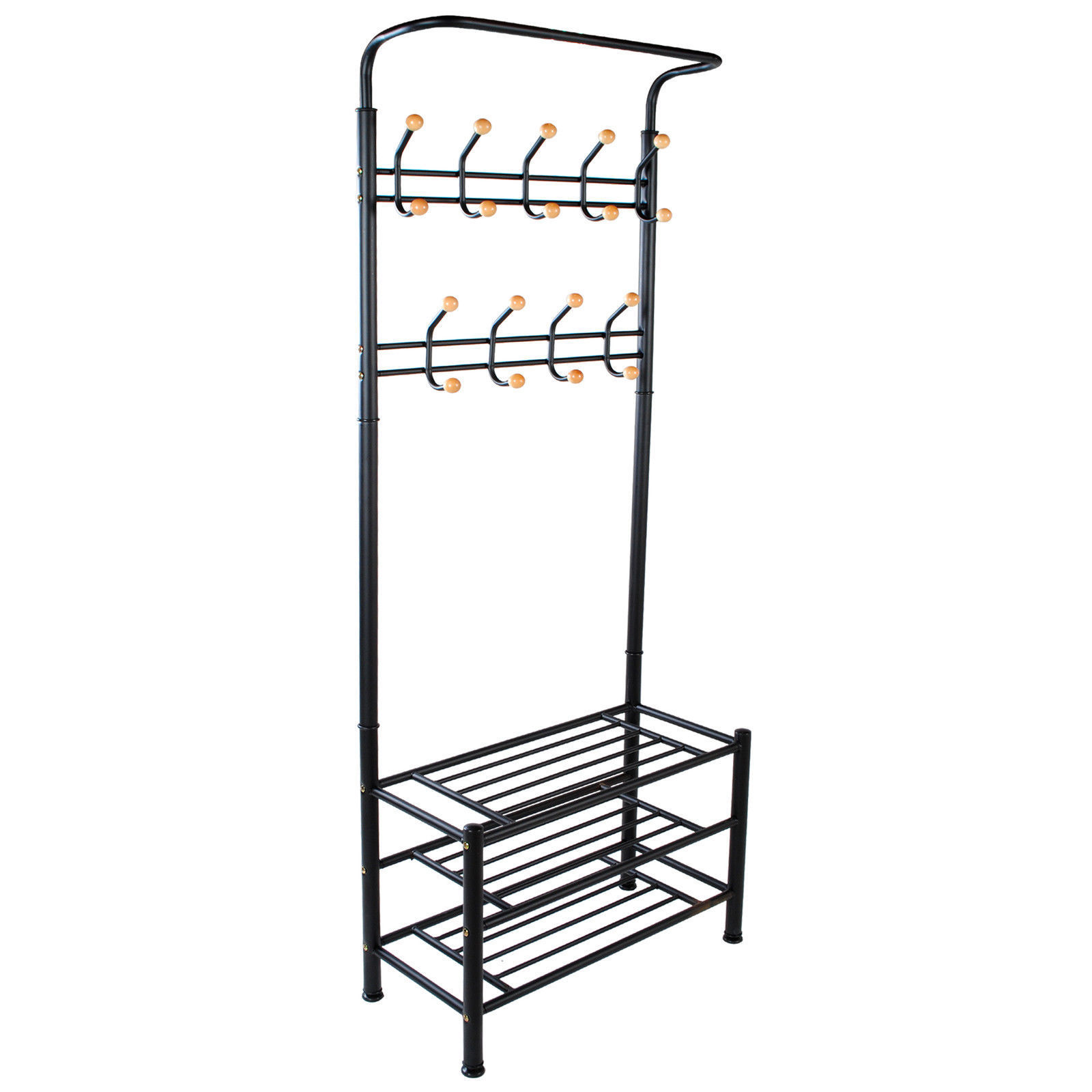Metal Hat And Coat Stand Clothes Shoes Steel Pipe Stands