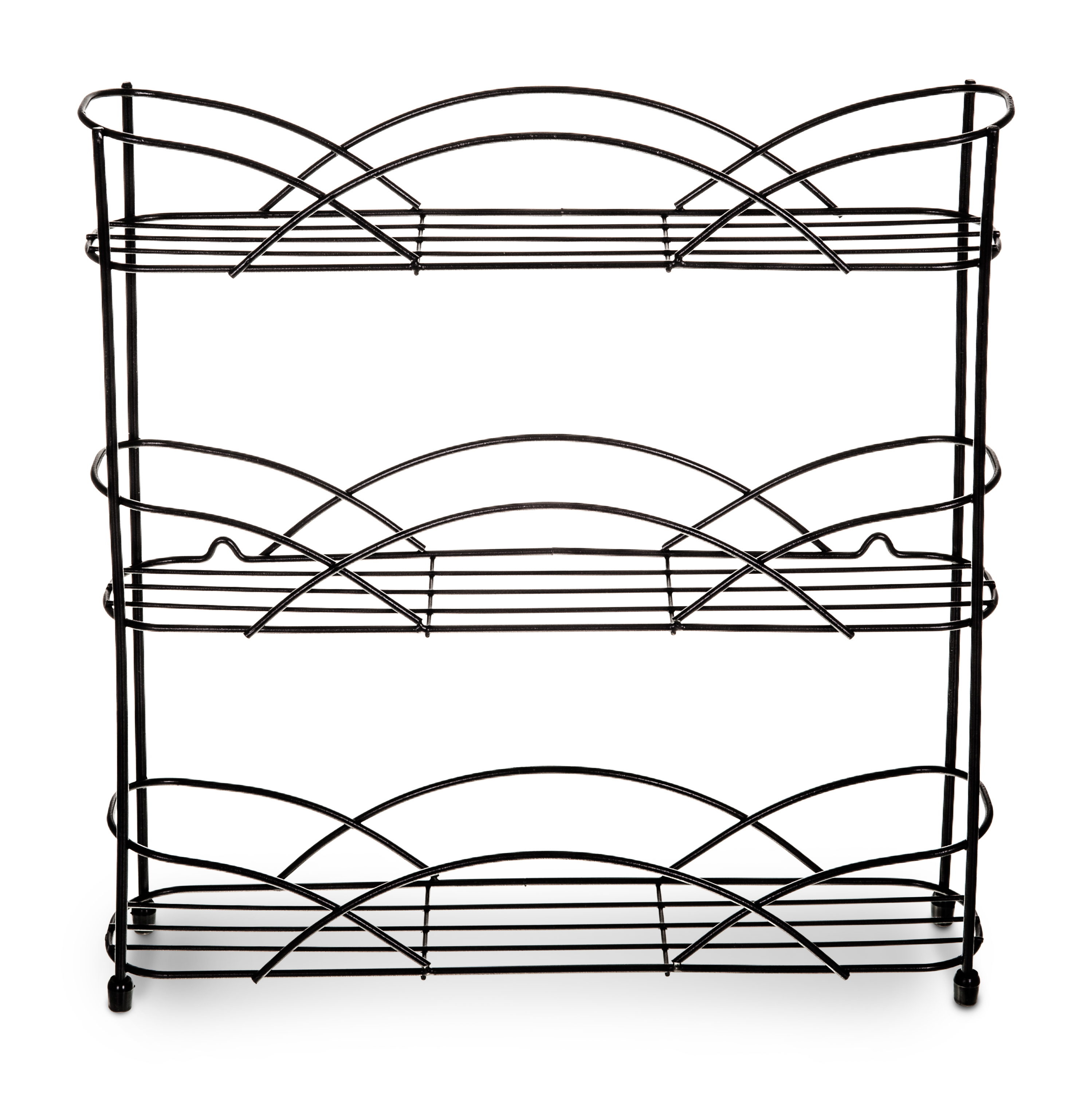 3 Tier Wall Mounted Free Standing Spice Rack Herb Holder