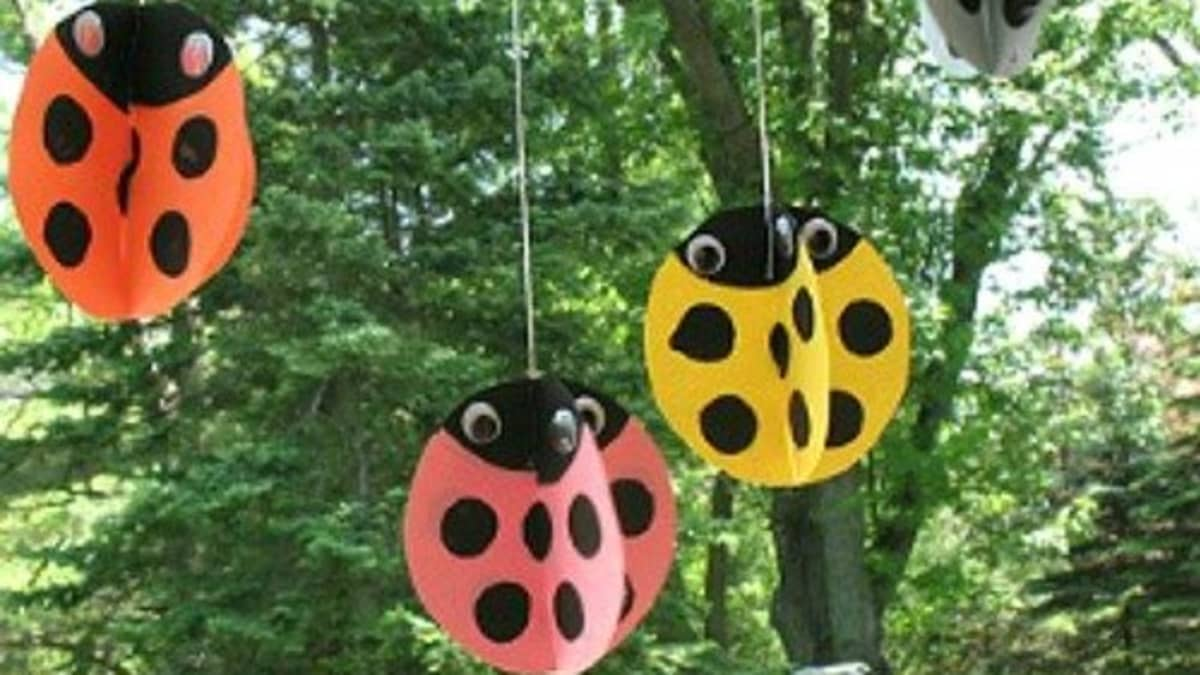 Paint a rock to look like a ladybug: 40 Fun And Easy Ladybug Craft Ideas Feltmagnet