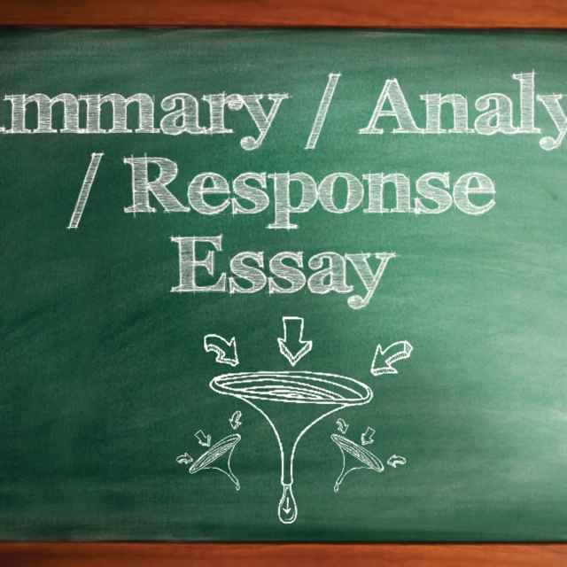 How to Write a Summary, Analysis, and Response Essay Paper With