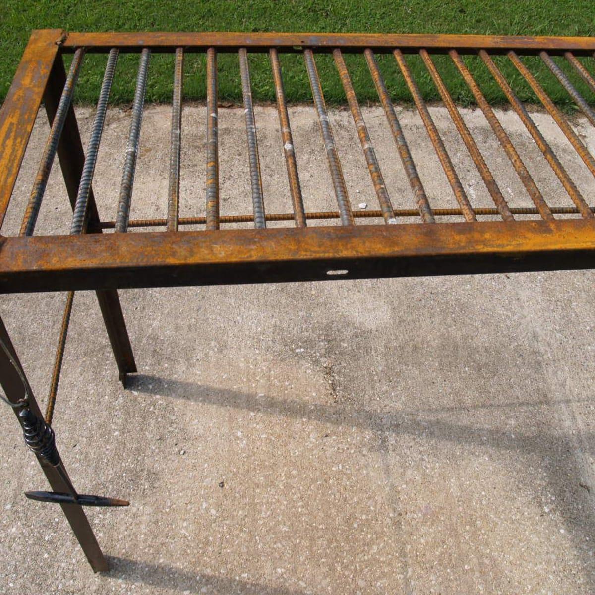 rebar and used bed frame metal