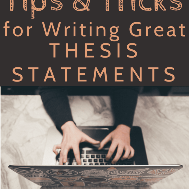 Easy Ways to Write a Thesis Statement - Owlcation