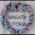 How To Make A Ribbon Wreath Feltmagnet Crafts