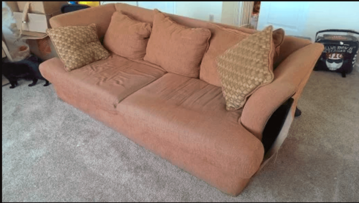reupholstering a couch step by step