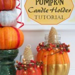 Diy Craft Tutorial How To Make A Festive Fall Candle Holder Using A Pumpkin Feltmagnet Crafts