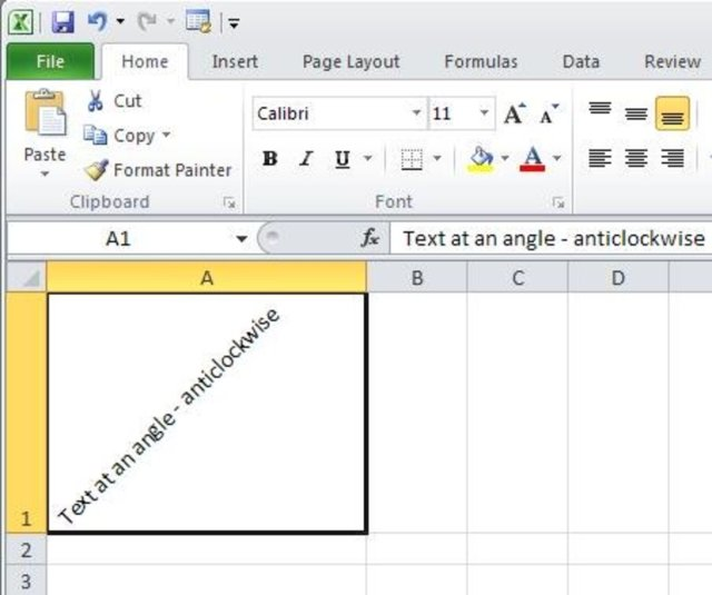 Tutorial – MS Excel – How to Write Text Vertically or at an Angle