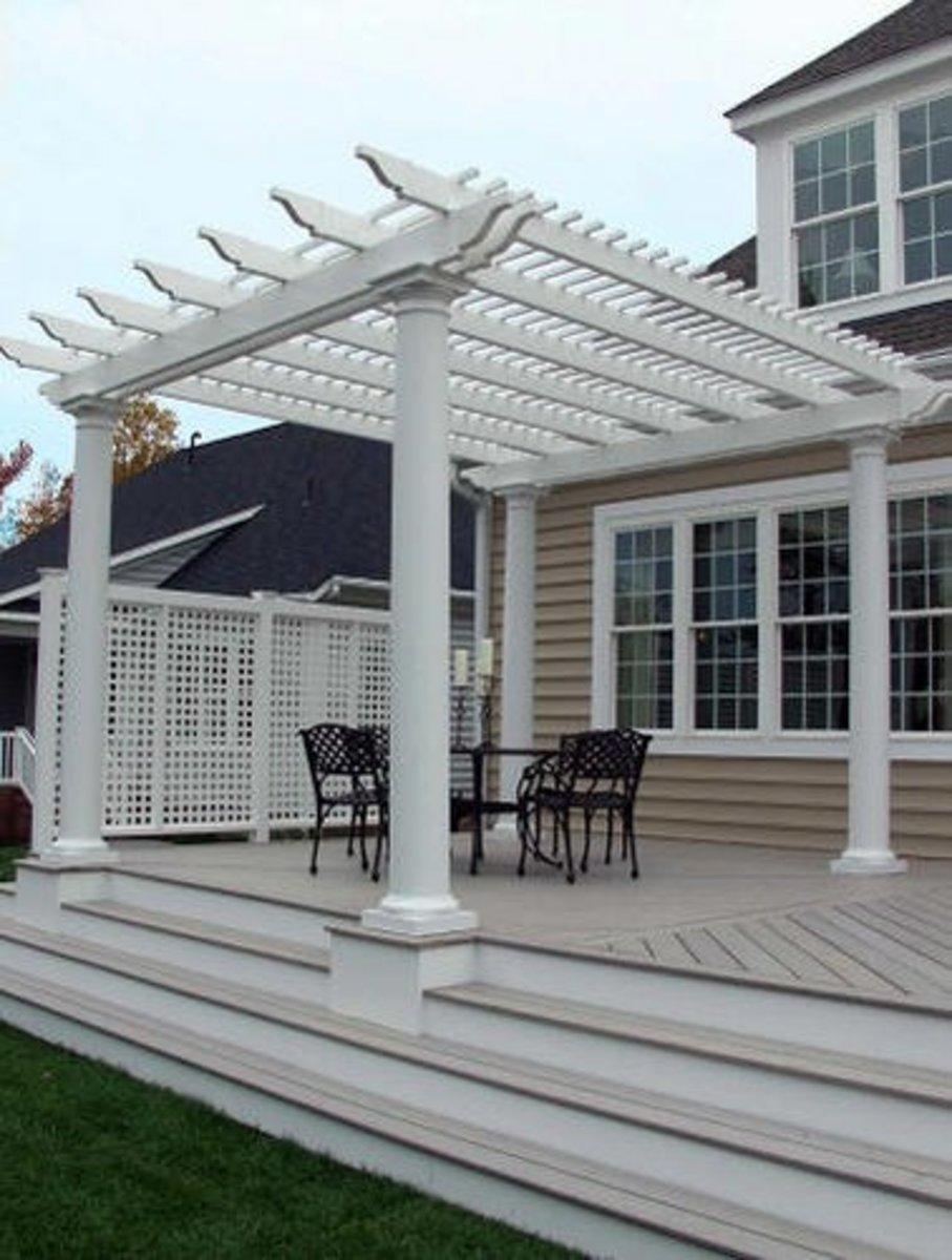 outdoor pergola roof materials