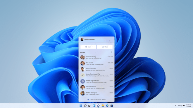 Teams is built-in to Windows 11 for easy access