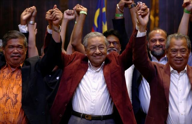 Image result for Swearing In of Malaysia's New Prime Minister