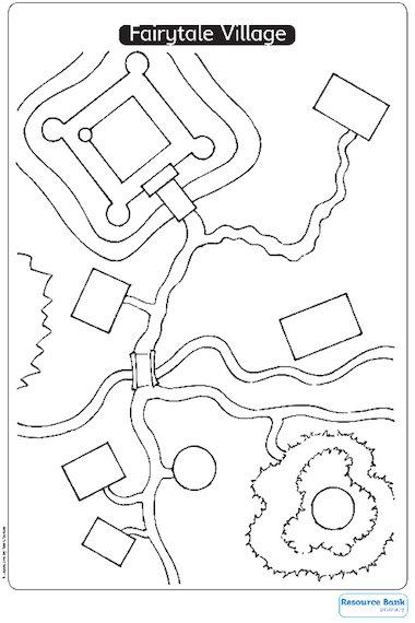 Fairytale Village Worksheet Primary KS1 Teaching