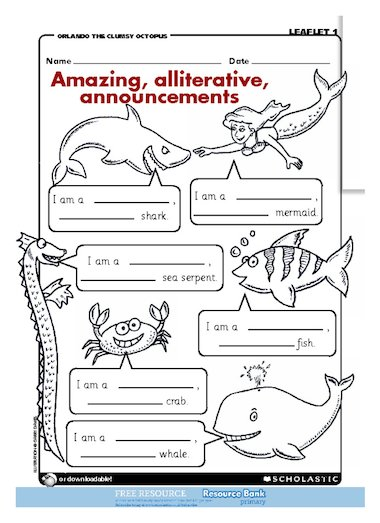 Amazing Alliterative Announcements Free Primary Ks1