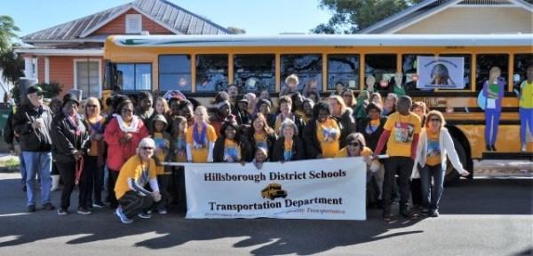 School bus team rolls in MLK parade - Management - School ...