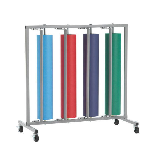 bulman vertical 4 roll paper rack with cutter 25 x 48 1 2 x 47 1 2 inches