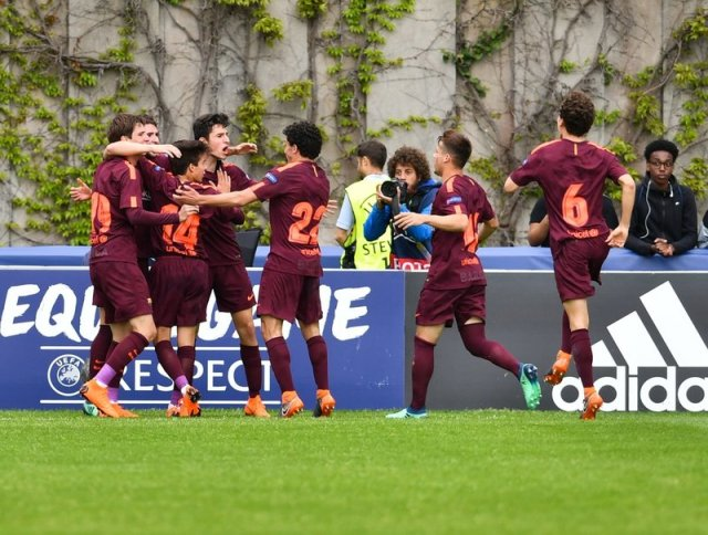 The joy of scoring a goal in the Youth League final