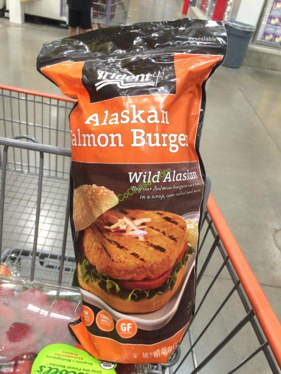 Alaskan Salmon Burgers 113g from Trident Seafoods
