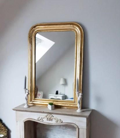 miroir dore style louis philippe 100 x 70 cm