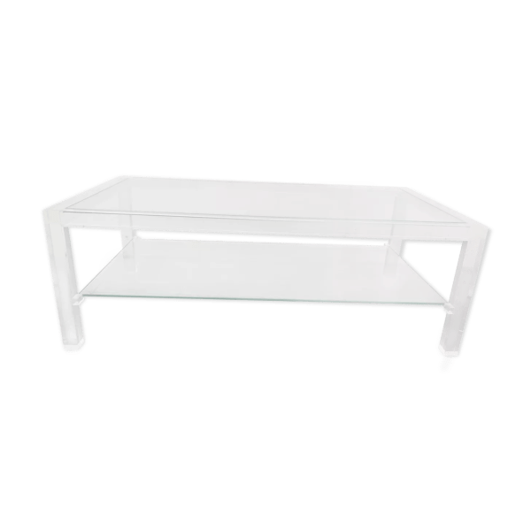 table basse plexiglas et verre les invisibles de marais 1980 selency