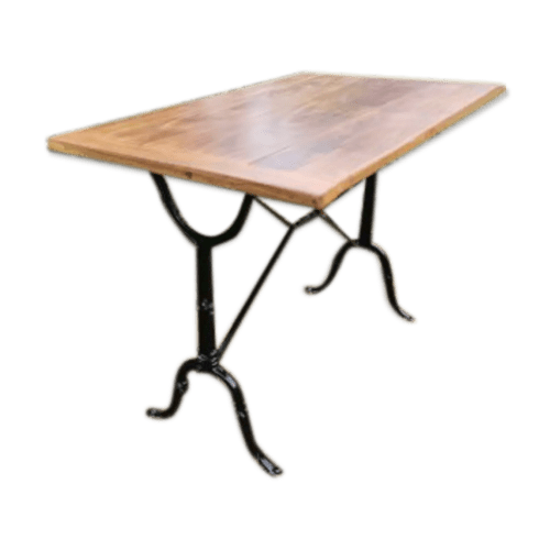 table bistrot rectangulaire pied metal