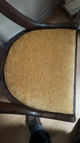 https www selency fr produit x7hb1165 chaise ancienne gondole style empire chaise en bois velour or l48cm html