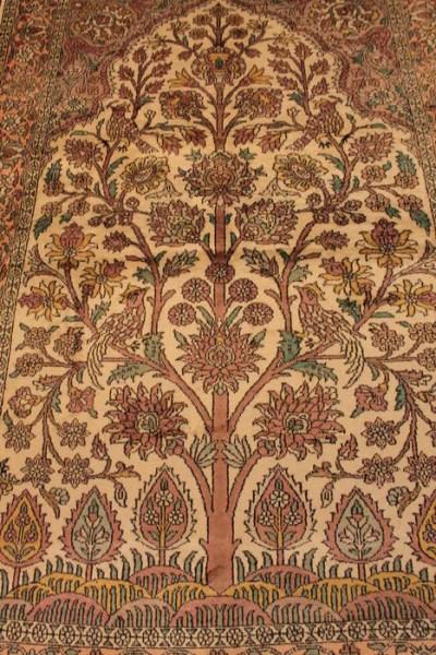 tapis kashmir soie arbre de vie 125x190cm selency
