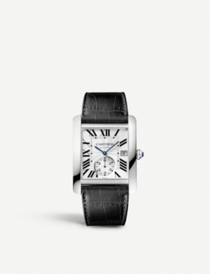 Cartier Watches   Womens Fine Jewellery   Selfridges CARTIER Tank MC stainless steel and leather watch