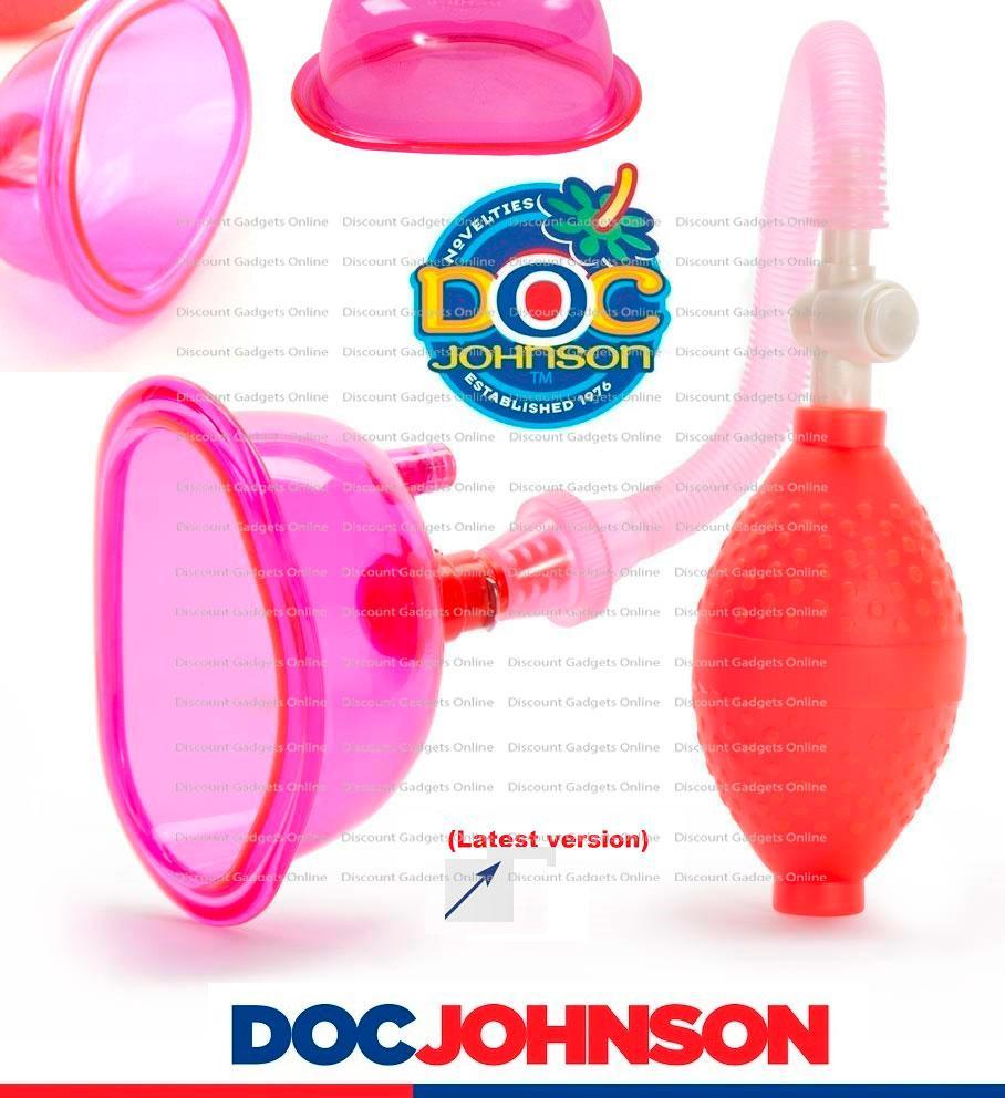Details About Doc Johnson Pussy Pump Vagina Sucker Clit Enlarger Clitoral Vacuum Orgasm Pink
