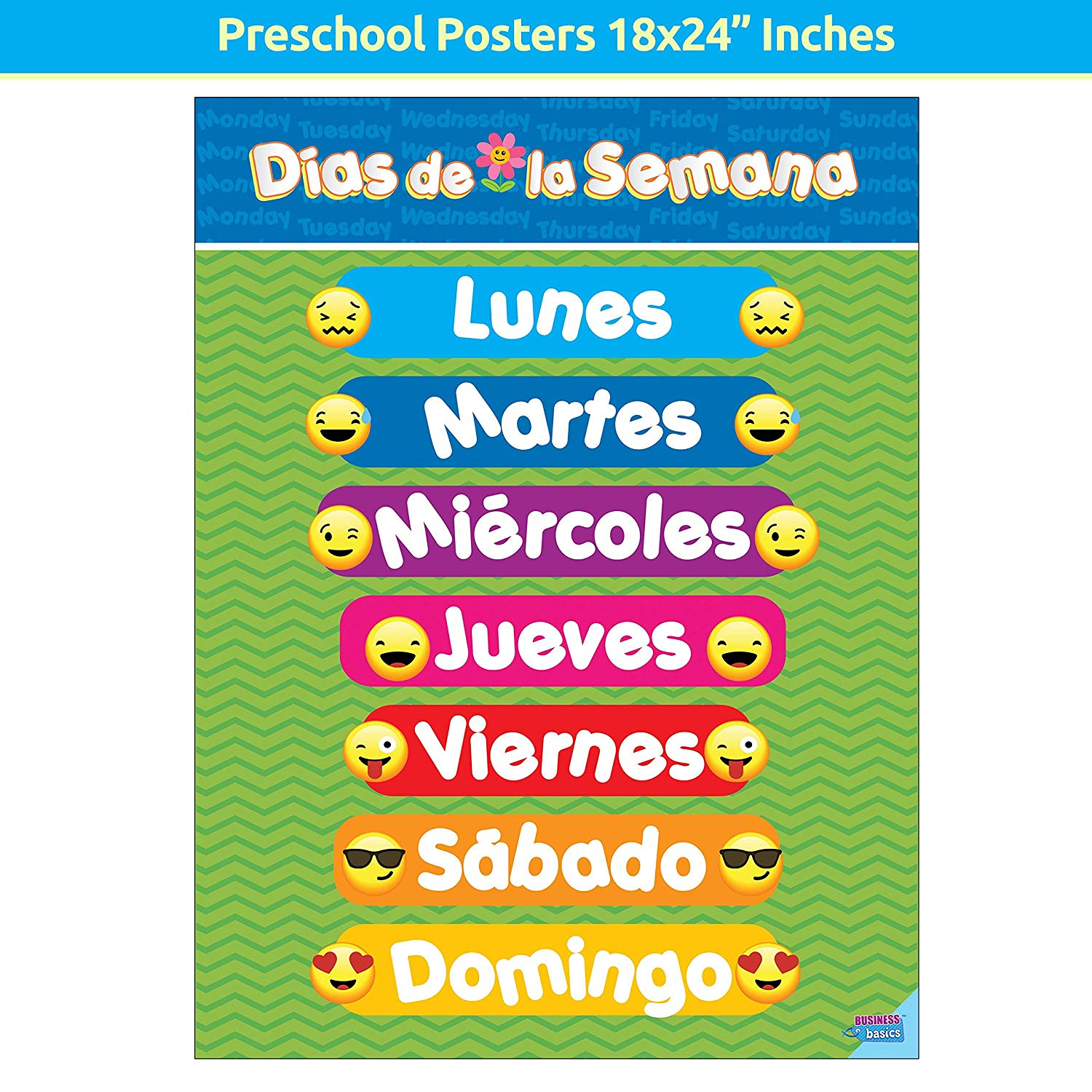 Educational Preschool Posters For Toddlers And Kids For