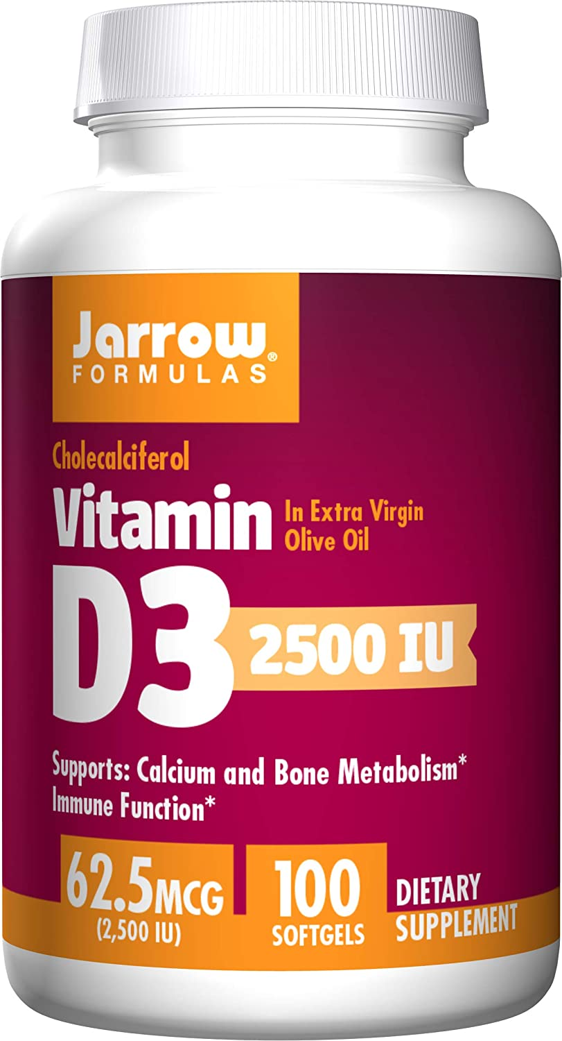 Jarrow Formulas Vitamin D3 Supports Calcium & Bone ...