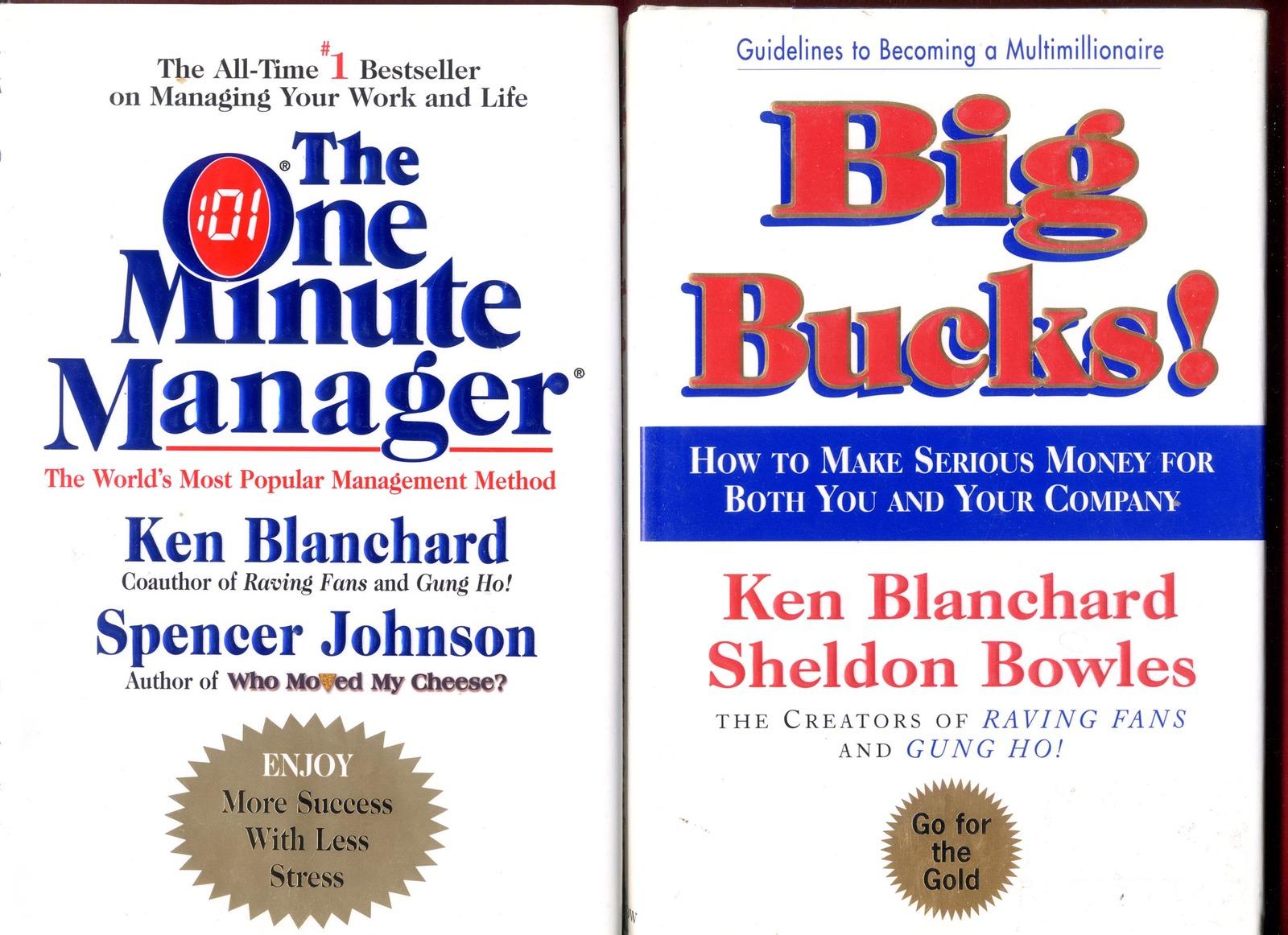 2 Ken Blanchard Books One Minute Manager Big Bucks