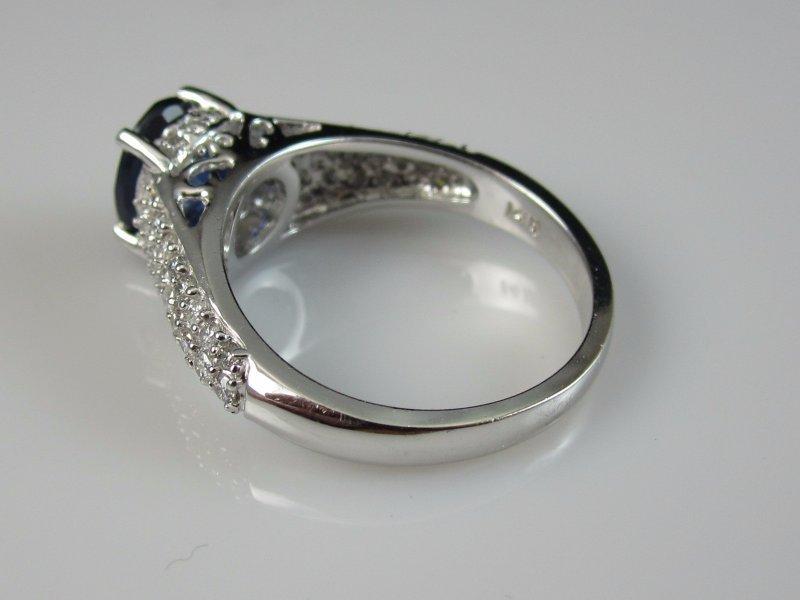 14K Sapphire Diamond Ring White Gold EFFY Fine Jewelry