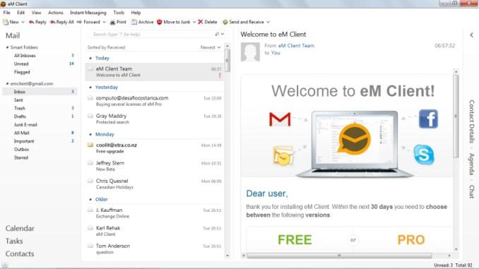 eM Client 7.2.35595 Keygen File Download 2019 Free Working 100%