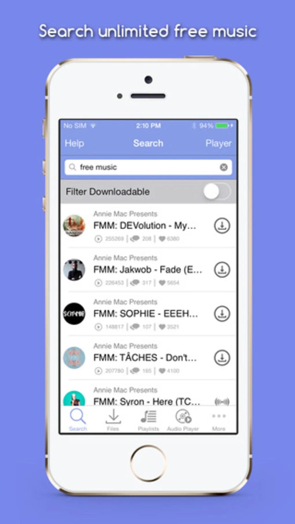 Mp3 Music Downloader Free لنظام Iphone تنزيل