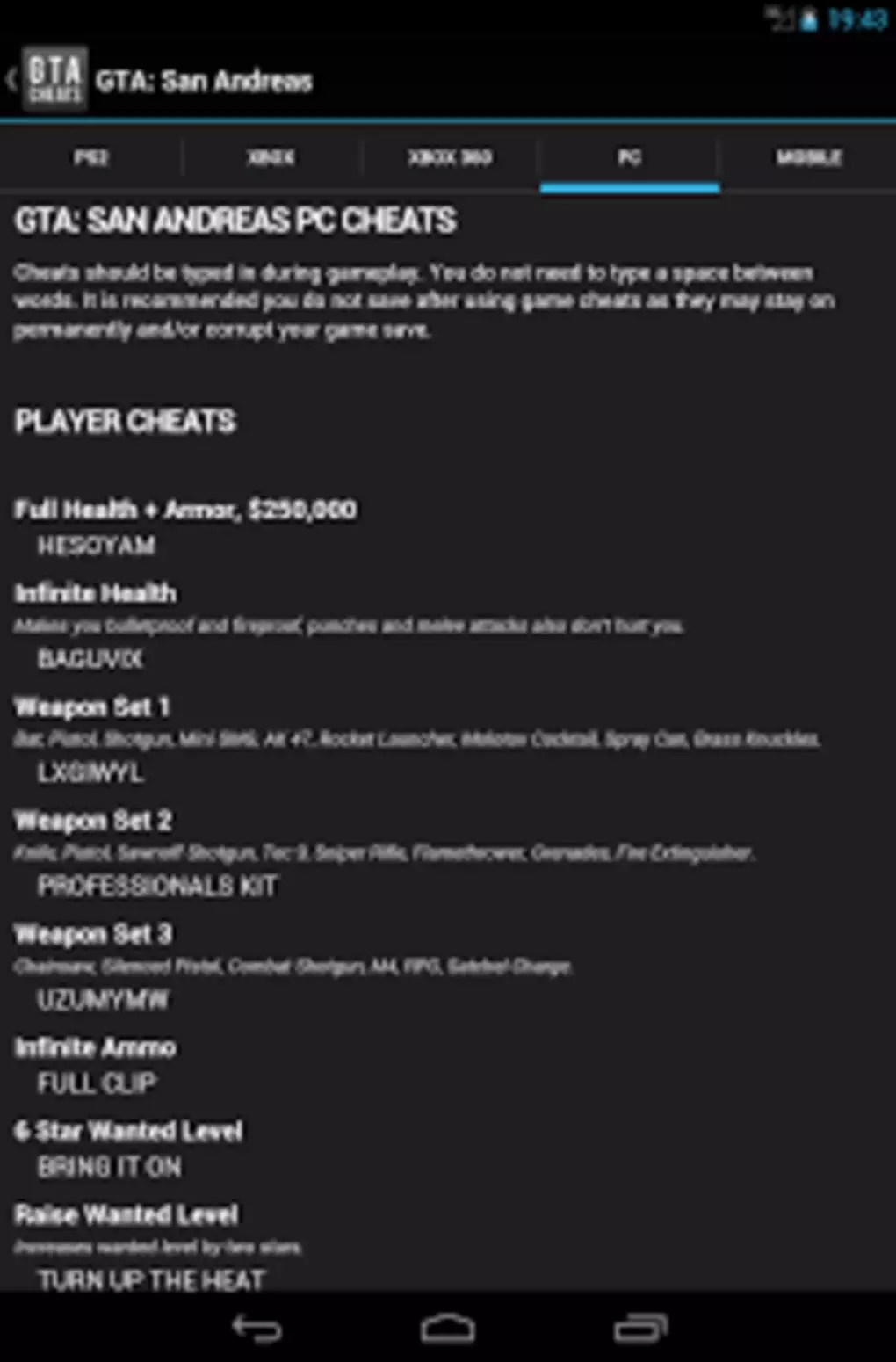 Vice Gta City Codes List