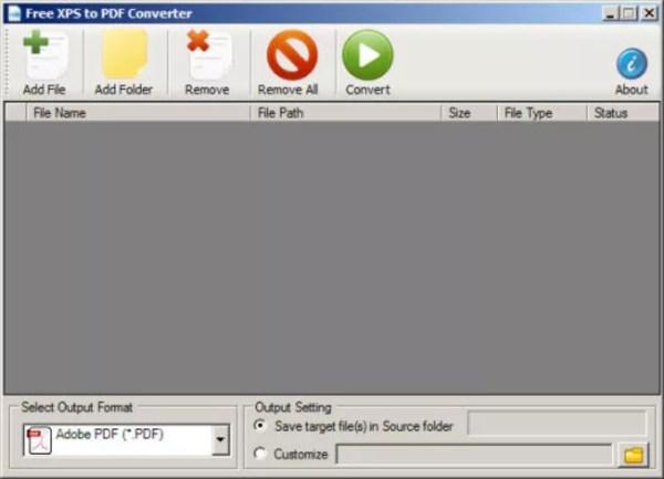 Free XPS to PDF Converter - Download